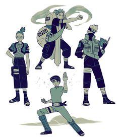 Gaara, Kakashi, Lee, and Shikamaru Itachi, Naruto Shippuden Anime, Shikamaru, Naruto And Sasuke, Anime Naruto, Kakashi Hatake, Naruto Pics, Sasunaru, Blue Exorcist