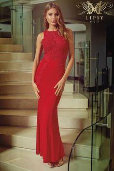 b2542e8fb50 Buy Lipsy VIP Lace Appliqué Maxi Dress online today at Next  Rep.