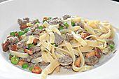 Pasta mit Pfifferlingen, Tatar und Erbsen (Rezept mit Bild) | Chefkoch.de