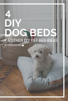 Learning how to make a dog bed can be easy and with so many DIY dog bed and DIY cat bed tutorials, there is no need to head to the store to purchase your little friend a place to snuggle into every night. Pet owners will love all of the DIY pet bed options provided in 4 DIY Dog Bed Patterns + 6 Other Pet Bed Ideas.