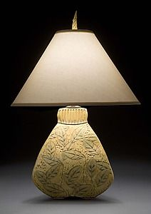 3-Sided Bulbous Lamp: Jim and Shirl Parmentier: Ceramic Table Lamp   Artful Home