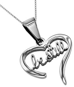 'Be Still' - Handwriting Heart Necklace on SonGear.com - Christian Shirts, Jewelry