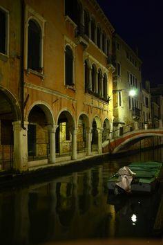 Venice at night, blissfully tourist-free