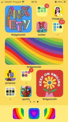 Iphone Design, Ios Design, Iphone Home Screen Layout, Iphone App Layout, Iphone Hacks, Iphone Wallpaper App, Screensaver Iphone, Phone Themes, Ios App Icon