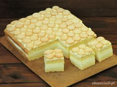 Ciasto z serków Danio Food Cakes, Homemade Cakes, Pavlova, Food Art, Tiramisu, Cake Recipes, Food And Drink, Sweets, Baking