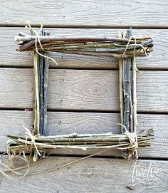 Square twig wreath