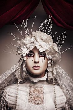 Although clearly a fashion photoshoot, Madonnas by Katarzyna Widmanska