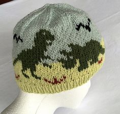 Dinosaurs Hat Knitting Pattern Original Design Hat in by imalulu Knitting For Kids, Loom Knitting, Knitting Projects, Baby Knitting, Dinosaur Hat, Knitting Patterns, Crochet Patterns, Knit Crochet, Crochet Hats