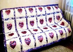 Quilt  Big Heart by Quiltsalon on Etsy, $237.29
