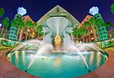 Dolphin Resort at Walt Disney World, just stayed here and really, really lilted it a lot. Disney World Hotels, Disney World Resorts, Walt Disney World, Disney World Theme Parks, Disney Vacations, Disney Parks, Disney Disney, Park Resorts, Orlando Resorts