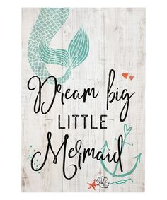 This Whitewash 'Little Mermaid' Wall Sign by Sincere Surroundings is perfect! #zulilyfinds