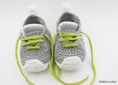 Gray baby shoes Crochet Baby Booties Crochet Baby Shoes