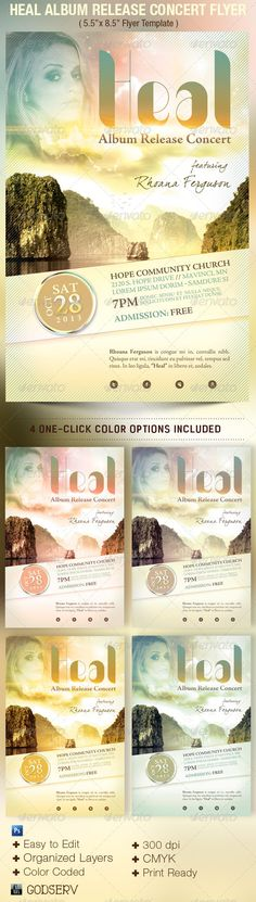 Fall revival flyer template fonts church and colourful for Music artist press release template