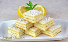 Reteta Prajitura Alba ca zapada (reteta video) - JamilaCuisine Romanian Desserts, Romanian Food, Sweets Recipes, Baking Recipes, Cake Recipes, Russian Recipes, Food Shows, Food Cakes, Pinterest Recipes