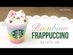 Rainbow Starbucks Latte Art! - Cute Frappuccino DIY Clay Tutorial (Collab with PinkSugarCotton) - YouTube