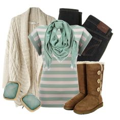"""""""Cozy Mint"""" by qtpiekelso on Polyvore"""