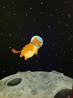 Space Cat the Final Furntier von - cats in art and illustration - Katze Art Inspo, Kunst Inspo, Art Mignon, Posca Art, Art Et Illustration, Cat Illustrations, Space Cat, Cat Drawing, Crown Drawing