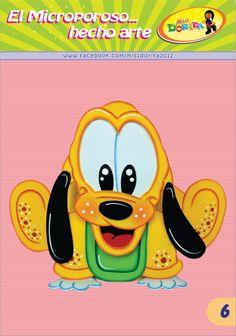 Moldes, Videos Tutoriales y Revistas Gratis de Foami, Goma Eva y microporoso, Compartir es nuestro lema y vayamos por la vida haciendo el Bien Pluto Disney, Baby Disney Characters, Fictional Characters, Disney Illustration, Baby Mickey, Mickey And Friends, Scooby Doo, Disneyland, Minnie Mouse