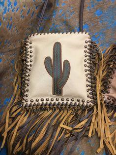 Kurtmen Pouche With Vintage Cactus Bronze 40 Stud Accent Vintage Knotted Fringe Ladies Handbag Tooled Leather Purse, Leather Tooling, Leather Purses, Leather Handbags, Leather Totes, Leather Pillow, Leather Art, Leather Bracelets, Leather Earrings