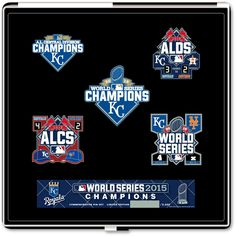 Kansas City Royals 2015 World Series Champions Commemorative 5 Piece Pin Set by Pro Specialties Group - MLB.com Shop