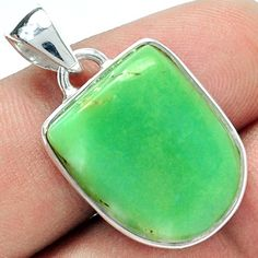 CRPP63 CHRYSOPRASE 925 STERLING SILVER PENDANT JEWELRY