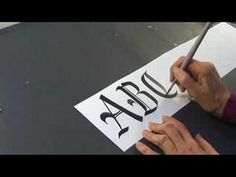 Calligraphy History & Styles : Calligraphy in Gothic Capitals: Pt. 1