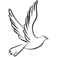 Dove Line Drawing - ClipArt Best