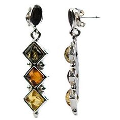 Sterling Silver Multicolor Amber Stud Earrings  http://electmejewellery.com/jewelry/sterling-silver-multicolor-amber-stud-earrings-couk/