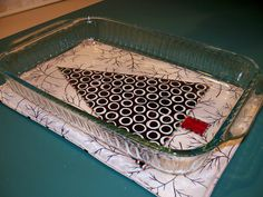 This hot pad was designed to fit a x pan and made thick to protect countertops and tables. The directions are for a hot pad with one fabric on each side. Christmas Sewing, Christmas Crafts, Christmas Quilting, Christmas Tree, Christmas Decorations, Christmas Fabric, Christmas Items, Small Quilts, Mini Quilts