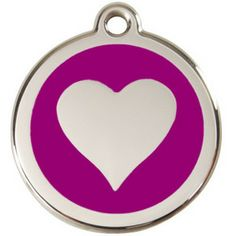 Stainless Steel Heart Engravable Pet Tag