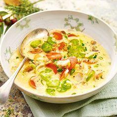 Zitronen-Thymian-Suppe mit Dicken Bohnen