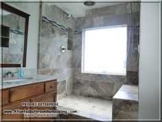 Atlanta Custom Travertine Shower 404-918-5955