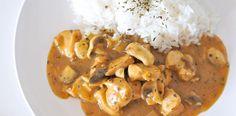 Hühnchen Ragout mit Pilzen #glutenfrei #laktosefrei & #fructosefrei / Creamy chicken ragout #dairyfree #glutenfree