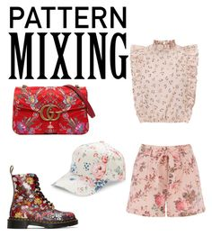 """""""pattern mixing"""" by geopaganeli ❤ liked on Polyvore featuring Dr. Martens, Gucci and BCBGeneration"""