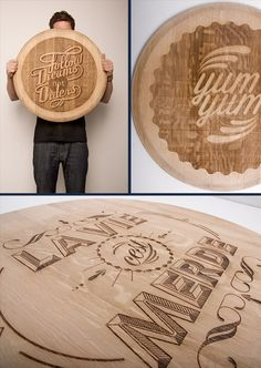 Agent18 - Wood Typography Engraving