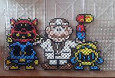 Doctor Mario perler beads by beardedpixart