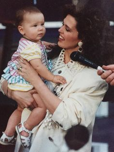 Marie Osmond and baby Rachael Blosil.