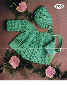 Crochet PATTERN  Baby Matinee/Jacket/Sweater/Coat and by carolrosa, $2.25