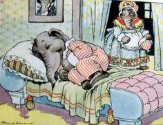 Johnny Gruelle illustration from Eddie Elephant, c. 1921.