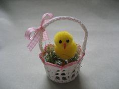 Velikonoční košíček - háčkovaný malý / Zboží prodejce KARCYGMA   Fler.cz Planter Pots