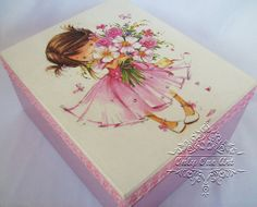Little Princess decoupage box and wooden sign gift by OnlyOneArt
