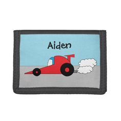 Personalized Racecar Wallet - accessories accessory gift idea stylish unique custom