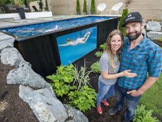 Shipping containers turned into backyard pools by Abbotsford couple. An Abbotsford couple is making a big splash in the world of outdoor recreation by converting shipping containers into backyard pools. Swimming Pools Backyard, Swimming Pool Designs, Backyard Play, Hillside Pool, Shipping Container Swimming Pool, Building A Floating Deck, Converted Shipping Containers, Pool Deck Plans, Large Backyard Landscaping