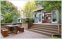 Back Deck Designs Back Deck Designs, Patio Deck Designs, Outside Living, Outdoor Living, Modern Deck, Small Backyard Patio, Exterior Makeover, Backyard Projects, Backyard Landscaping