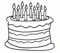 Birthday cake coloring page Birthday Preschool theme Pinterest