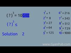 Cool Tricks For Math - Finding the cube root of any nnumber whose value lies between 1 and 100 - YouTube