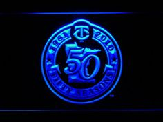 Minnesota Twins 50th Anniversary Logo LED Neon Sign - Legacy Edition