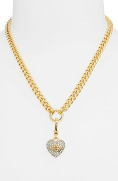 Juicy Couture Pavé Heart Charm Necklace --- yes please :-)