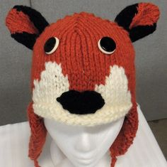 Fox Hat by woolhousecasalana on Etsy