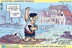 Malentendidos tecnológicos y generacionales ;) jejeje #humor #tecnologia #caricatura